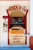 Geautomatiseerde Pizza die Automaat maakt Royalty-vrije Stock Foto's