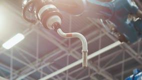 Geautomatiseerde robotachtige machine voor industrieel gestemd lassen, royalty-vrije stock fotografie