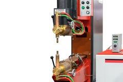 Geavanceerd technisch en modern van het lassenmachine van de weerstandsvlek met huidig controlemechanisme dat op witte achtergron stock afbeelding