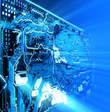 Geavanceerd technische achtergrond Stock Foto's