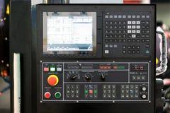 Geavanceerd technische Industriële Machinecontrole door PLC programing logboek stock foto