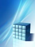 Geavanceerd technische kubus royalty-vrije illustratie