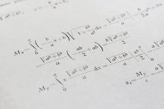 Geavanceerd wiskundevoorbeeld stock afbeeldingen