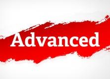 Geavanceerde Rode Borstel Abstracte Illustratie Als achtergrond stock illustratie