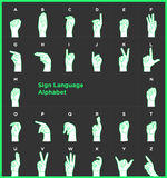 Gebärdensprache-Alphabet Stockbild