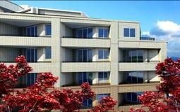 Gebäude über Ansicht Lizenzfreies Stockfoto