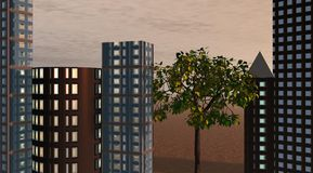 Gebäude stock abbildung