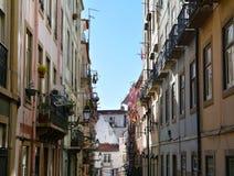 Gebäude achitecture in der alten Stadt von Lissabon Stockfoto