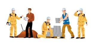 Gebäude-Arbeitskräfte stock abbildung