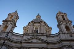 Gebäude auf dem Marktplatz Navona in Rom Italien Stockbilder