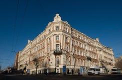 Gebäude auf dem Museumsbereich in Saratow. Lizenzfreies Stockbild