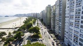 Gebäude auf dem Strand Stockfotografie