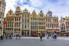 Gebäude auf Grand Place -Quadrat, Brüssel, Belgien stockfotografie