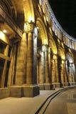 Gebäude auf Republik-Quadrat nachts Bis 2016 dieses errichtende h Lizenzfreie Stockfotografie