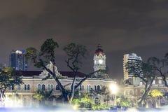 Gebäude Bangunan Sultan Abdul Samad in Kuala Lumpur stockbild
