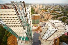 Gebäude, Bau, Straßen auf Elchinsel Lizenzfreies Stockfoto