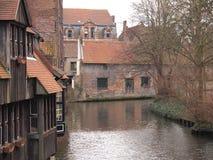 Gebäude (Brügge, Belgien) Stockbild