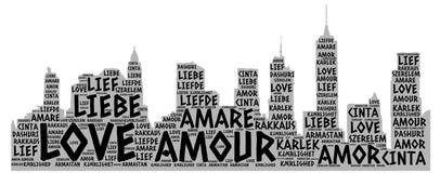 Gebäude Brooklyns New York veranschaulicht mit Liebe Stockbild