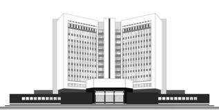 Gebäude-Buch Stockfoto