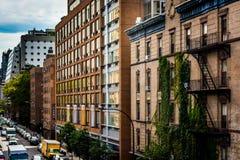 Gebäude in Chelsea gesehen von der hohen Linie in Manhattan, neues Y Lizenzfreie Stockfotos