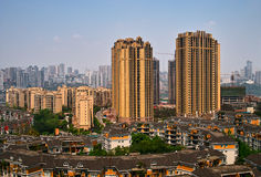 Gebäude in Chongqing lizenzfreie stockfotografie