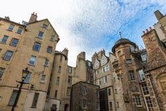 Gebäude an Dame Stairs Close in Edinburgh Lizenzfreie Stockfotos