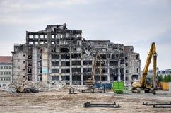 Gebäude demoition lizenzfreie stockfotos