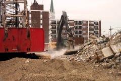 Gebäude-Demolierung Stockfotos