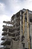 Gebäude-Demolierung stockbilder