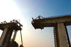 Gebäude der Brücke Stockfoto