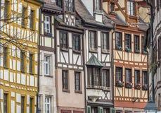 Gebäude in der deutschen Stadt von Nürnberg Stockfoto
