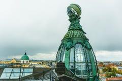 Gebäude der Firma Zinger, Nevsky-Aussicht, besetzen die Wohnung Vkontakte VK, Nevsky-Allee mit Personal lizenzfreies stockbild
