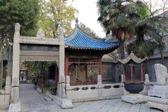 Gebäude in der großen Moschee Xian-huajue Wegs, luftgetrockneter Ziegelstein rgb Lizenzfreies Stockbild
