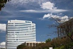 Gebäude der INAIL-Hauptsitze in Rom Eur stockfotografie