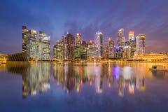 Gebäude an der Jachthafenbucht, Singapur 14/10/2559 Lizenzfreies Stockfoto