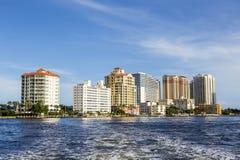 Gebäude an der Küste des Fort Lauderdale Lizenzfreies Stockbild