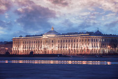 Gebäude der Kaiserakademie von Künsten in St Petersburg Lizenzfreie Stockfotos