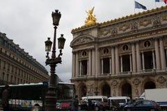 Gebäude der Musikhochschule und der großartigen Oper in Paris lizenzfreie stockfotos