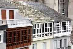 Gebäude in der Stadt von Lugo, Spanien Stockfotos