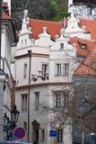 Gebäude in der Straße Prag, Tschechische Republik lizenzfreies stockfoto