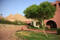 Gebäude in der Wüste in Ägypten Stockbild