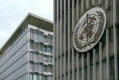 Gebäude der Weltgesundheitsorganisation u. des x28; WHO& x29; in Genf die Schweiz Stockbilder