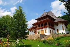 Gebäude des Barsana Klosters Lizenzfreies Stockbild