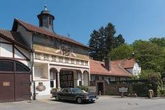 Gebäude des ehemaligen Kloster- und heute Reitergericht rettershof im taunus, Hessen, Deutschland lizenzfreie stockfotos