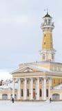 Gebäude des Feuerturms, Kostroma Lizenzfreie Stockfotos