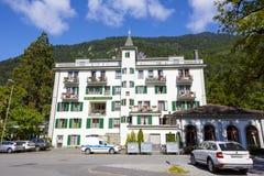 Gebäude des Hotels Interlaken Stockfotos