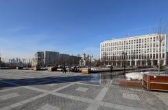 Gebäude des Innenministeriums der Russischen Föderation Zhitnaya St. 16, Moskau, Russland lizenzfreie stockbilder
