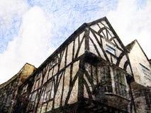 Gebäude des 15. Jahrhundertsin York Lizenzfreies Stockfoto