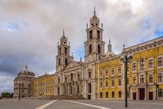 Gebäude des nationalen Palastes in Mafra, Portugal stockbild