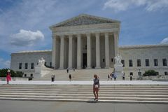 Gebäude des Obersten Gerichts von Vereinigten Staaten stockfoto